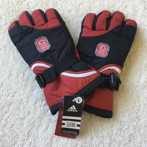 Nc State Wolfpack Winter Gloves Large New